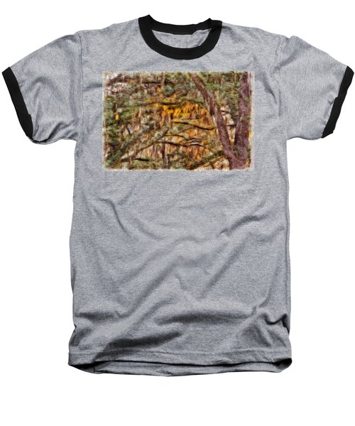 Spanish Moss And Sunset Baseball T-Shirt