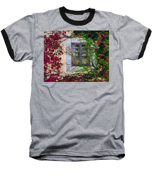 Baseball T-Shirt featuring the photograph Spanish Window by Don Schwartz