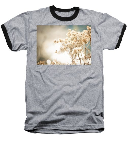 Baseball T-Shirt featuring the photograph Sparkly Weeds by Cheryl Baxter