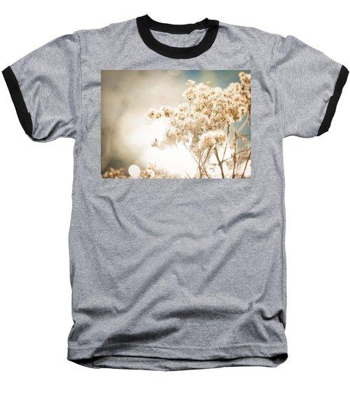 Sparkly Weeds Baseball T-Shirt by Cheryl Baxter