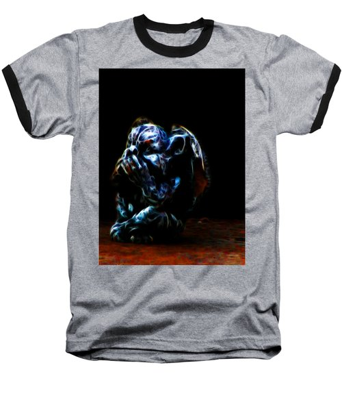 Speak No Evil Gargoyle Baseball T-Shirt
