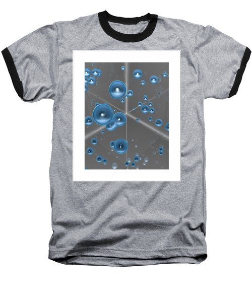 Baseball T-Shirt featuring the digital art Spheres... by Tim Fillingim