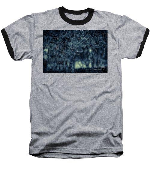 Baseball T-Shirt featuring the photograph Spider Web by Matt Malloy