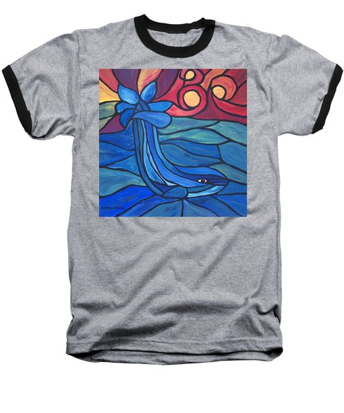 Baseball T-Shirt featuring the painting Splash by Cynthia Amaral