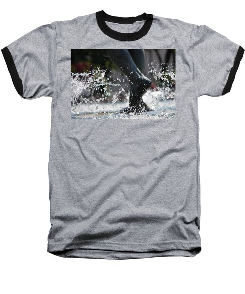 Baseball T-Shirt featuring the photograph Sploosh by Stephanie Nuttall