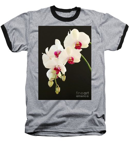 Spray Of White Orchids Baseball T-Shirt