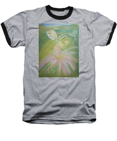Spring Fairy Entrance Baseball T-Shirt by Judith Desrosiers