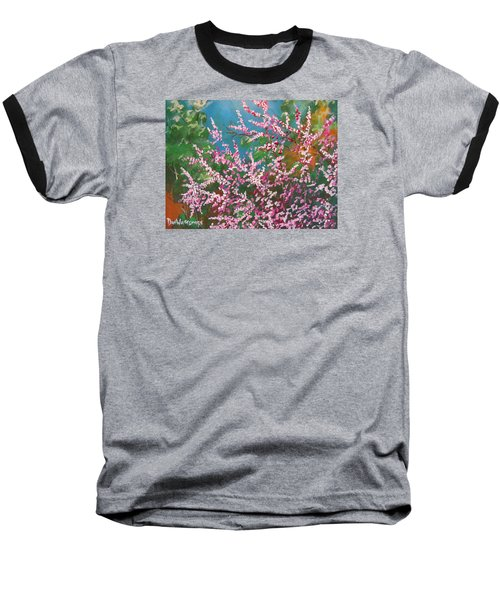 Baseball T-Shirt featuring the painting Springs Blossoms  by Dan Whittemore