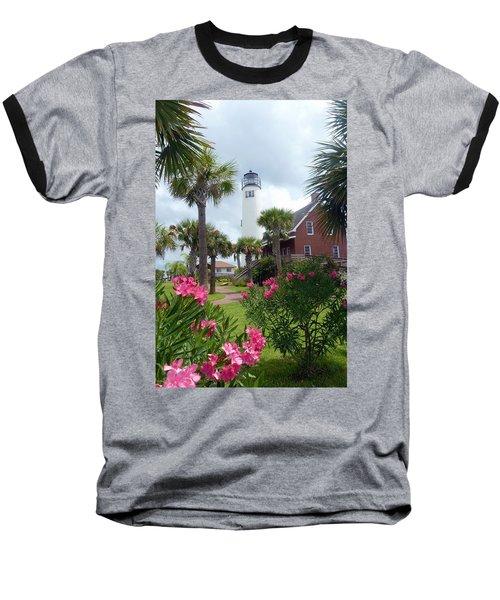 St. George Island Lighthouse Baseball T-Shirt