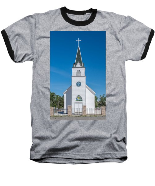 Baseball T-Shirt featuring the photograph St. John The Evangelist Catholic Church by Fran Riley