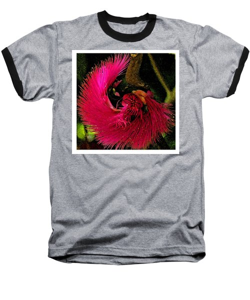 Baseball T-Shirt featuring the photograph St Kitts Flora by Cindy Manero