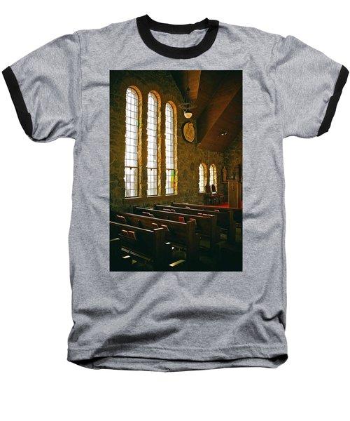 Baseball T-Shirt featuring the photograph St Malo Church by David Pantuso