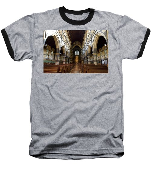 St Pauls Cathedral Baseball T-Shirt by Yew Kwang