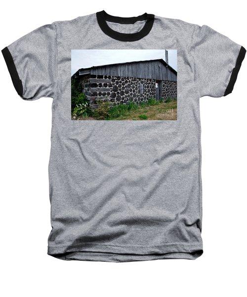 Baseball T-Shirt featuring the photograph Stacked Block Barn by Barbara McMahon
