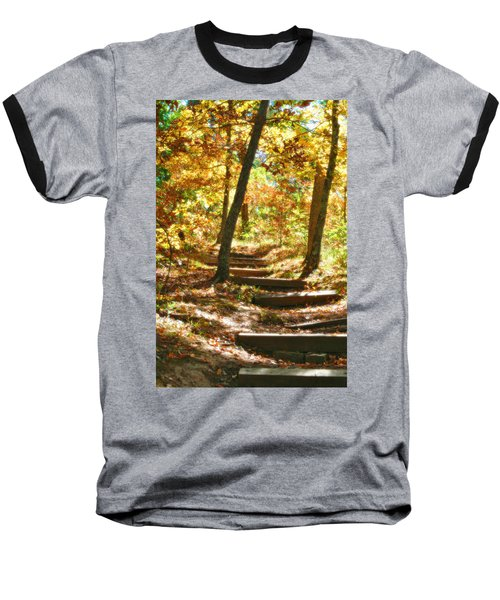 Baseball T-Shirt featuring the photograph Stairway To Heaven by Peggy Franz