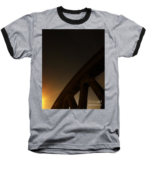 Baseball T-Shirt featuring the photograph Starry Night On Sunset Bridge by Andy Prendy