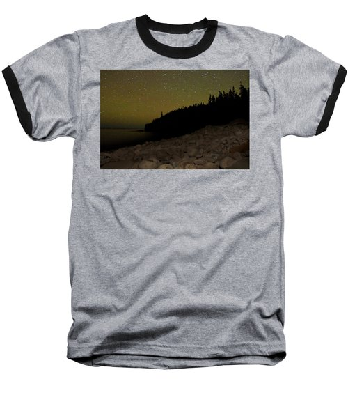 Baseball T-Shirt featuring the photograph Stars Over Otter Cliffs by Brent L Ander