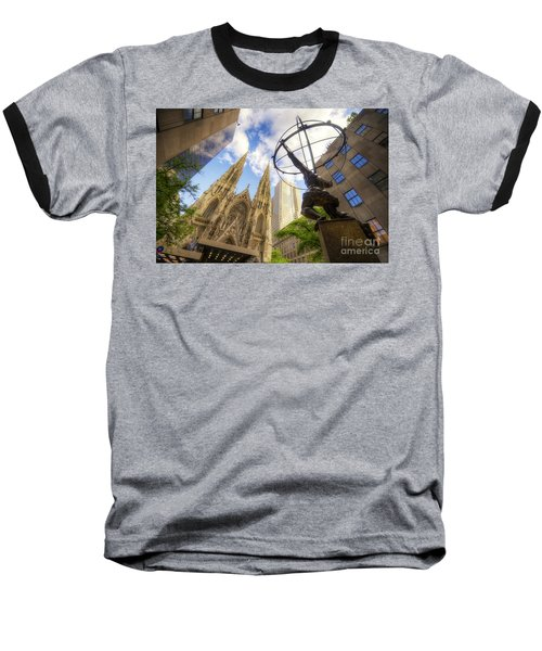 Statue And Spires Baseball T-Shirt