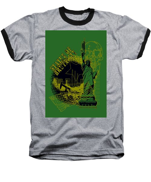 Statue Of Brutality  Baseball T-Shirt