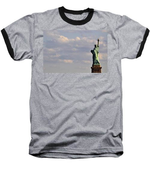 Statue Of Liberty Baseball T-Shirt by Zawhaus Photography