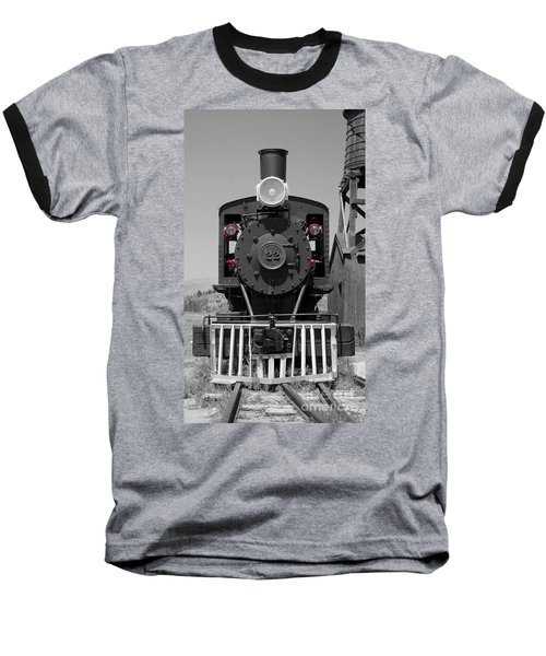 Baseball T-Shirt featuring the photograph Steam Engine Train by Deniece Platt