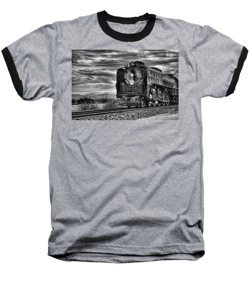 Steam Train No 844 - Iv Baseball T-Shirt by Donna Greene