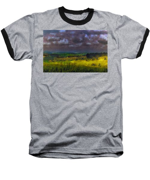 Storm Clouds Over Meadow Baseball T-Shirt