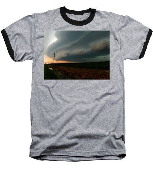 Baseball T-Shirt featuring the photograph Storm Front by Debbie Portwood