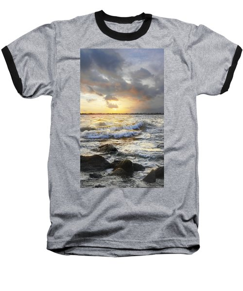 Storm Waves Baseball T-Shirt