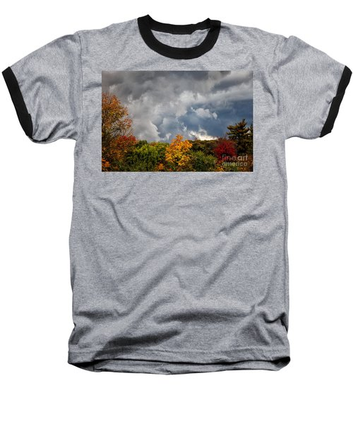 Storms Coming Baseball T-Shirt by Ronald Lutz