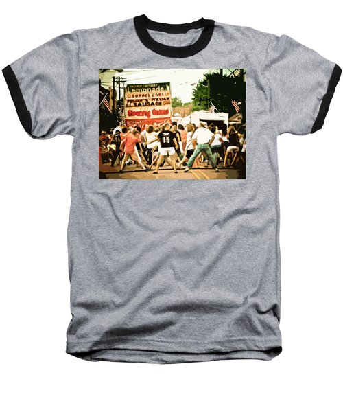 Street Dance Baseball T-Shirt by Jessica Brawley