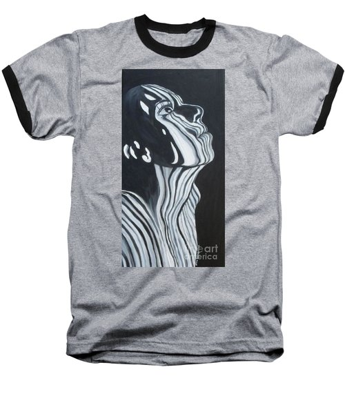 Baseball T-Shirt featuring the painting Stripes by Julie Brugh Riffey