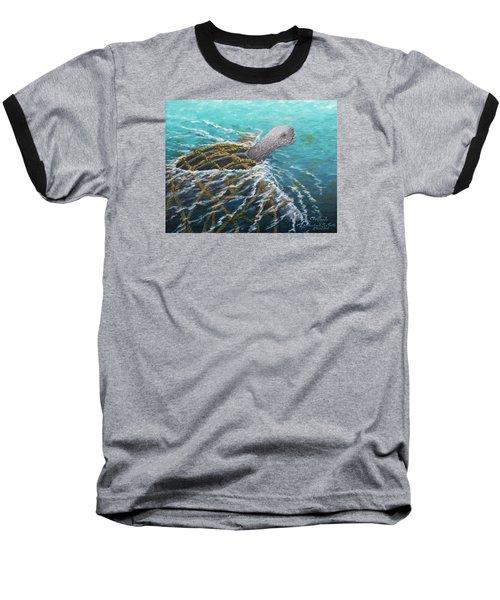 Struggle -leatherback Sea Turtle Baseball T-Shirt