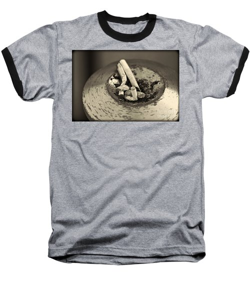 Baseball T-Shirt featuring the photograph Stubbed Out. by Clare Bambers