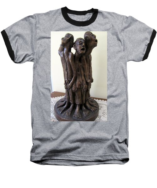 Suffering Circle In Bronze Sculpture Men In Rugs Standing In A Circle With Suffering Faces Crying  Baseball T-Shirt