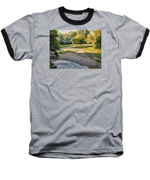 Summer Evening Along The Creek Baseball T-Shirt by Bruce Morrison