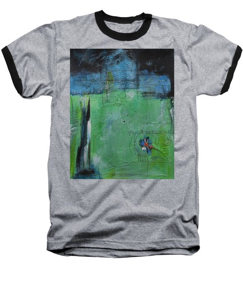 Baseball T-Shirt featuring the painting Summer by Nicole Nadeau
