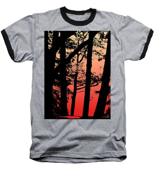 Summer Sunset Baseball T-Shirt
