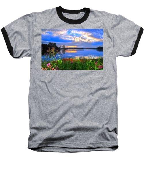 Baseball T-Shirt featuring the photograph Summertime Walk Around Lake  by Randall Branham