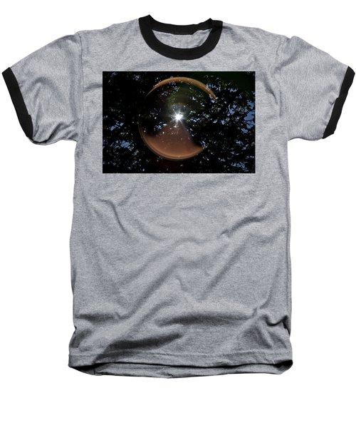 Baseball T-Shirt featuring the photograph Sun Flair by Maj Seda
