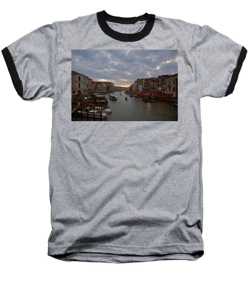 Sun Sets Over Venice Baseball T-Shirt