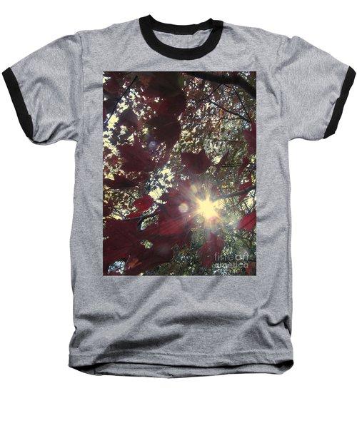 Baseball T-Shirt featuring the photograph Sun Shine Through by Donna Brown