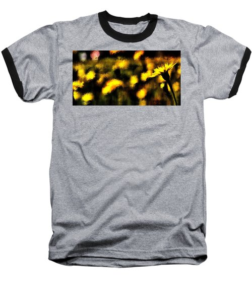 Baseball T-Shirt featuring the mixed media Sun Worshiper by Terence Morrissey