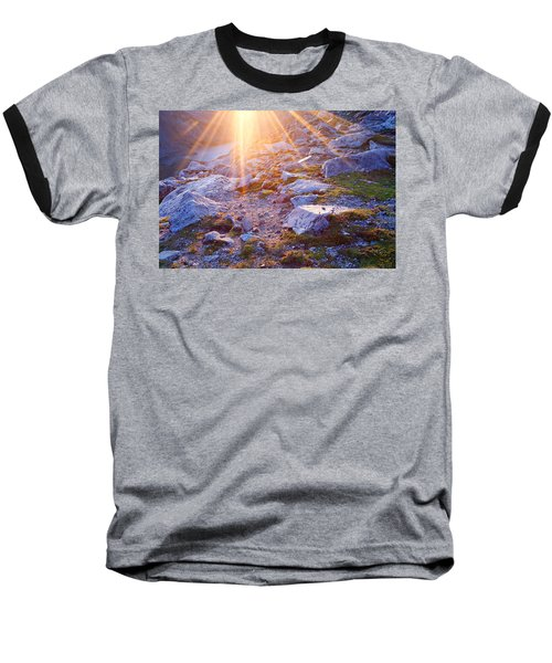 Baseball T-Shirt featuring the photograph Sunburst Over Abyss Lake by Jim Garrison