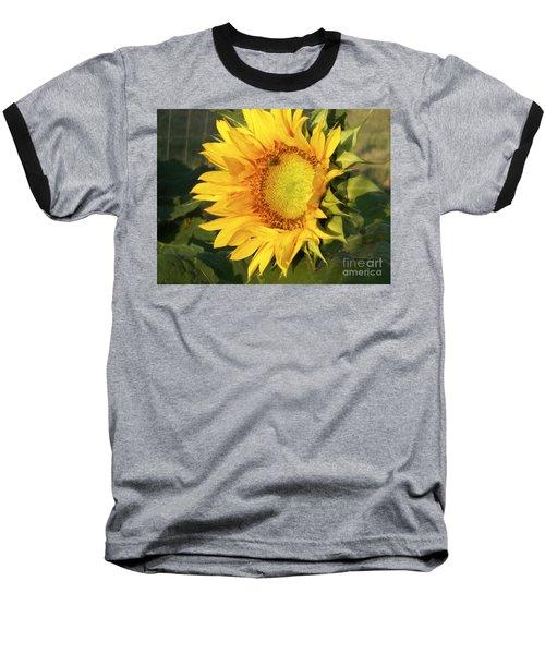 Baseball T-Shirt featuring the digital art Sunflower Digital Art by Deniece Platt