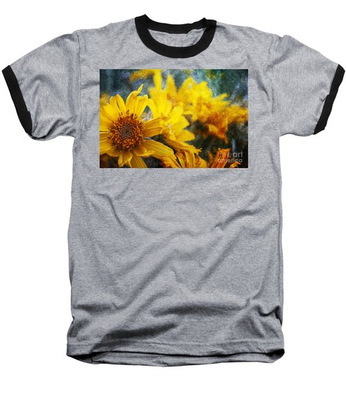 Sunflowers Baseball T-Shirt by Alyce Taylor
