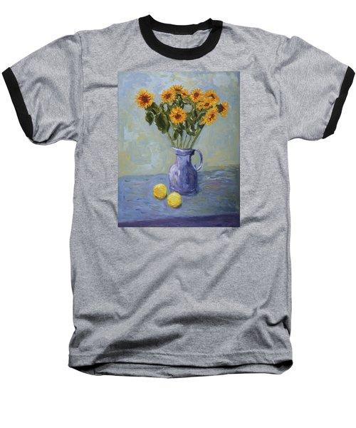 Sunflowers And Lemons Baseball T-Shirt