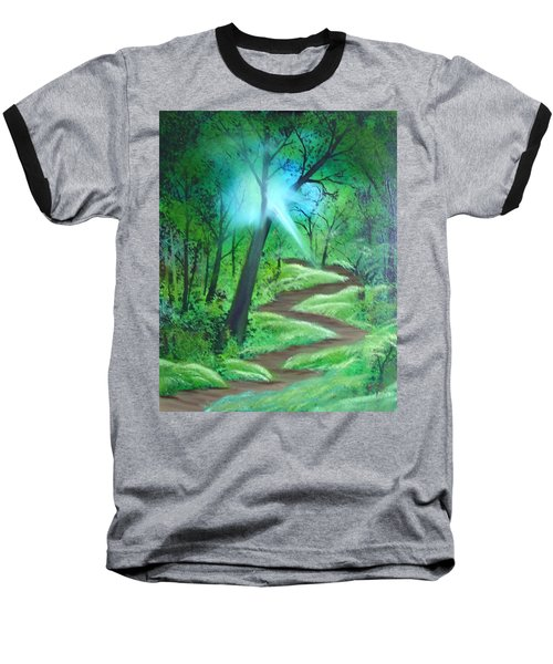 Sunlight In The Forest Baseball T-Shirt