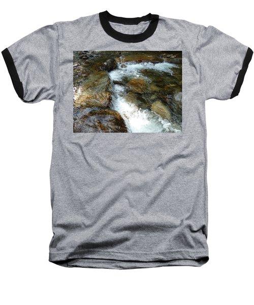 Sunlit Cascade Baseball T-Shirt by Joel Deutsch