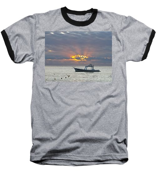Sunrise - Puerto Morelos Baseball T-Shirt by Sean Griffin